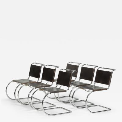 Ludwig Mies Van Der Rohe 6 Mies van der Rohe Cantilever Chairs Knoll 70s
