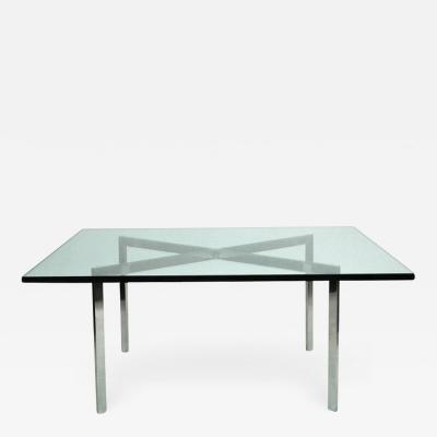 Ludwig Mies Van Der Rohe Early Barcelona Table by Mies van der Rohe Marked KP