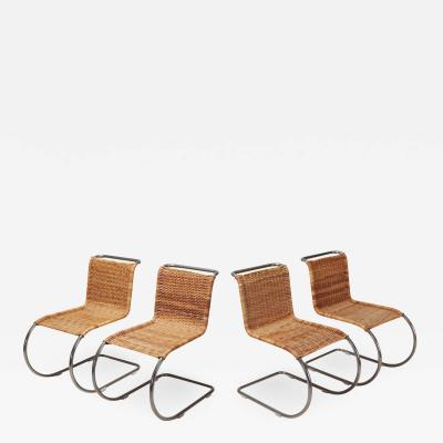Ludwig Mies Van Der Rohe Ludwig Mies Van Der Rohe Set of Four B42 Weissenhof Chairs by Tecta 1982