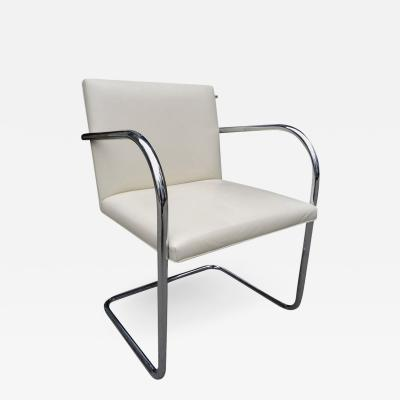Ludwig Mies Van Der Rohe Midcentury Knoll Brno Chairs by Mies van der Rohe in White