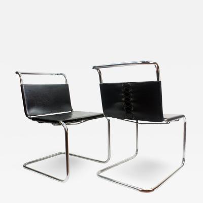 Ludwig Mies Van Der Rohe Mies van der Rohe MR10 Sling Lounge Chairs