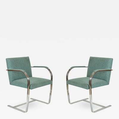 Ludwig Mies Van Der Rohe Mies van der Rohe Pair of Brno Chairs for Knoll