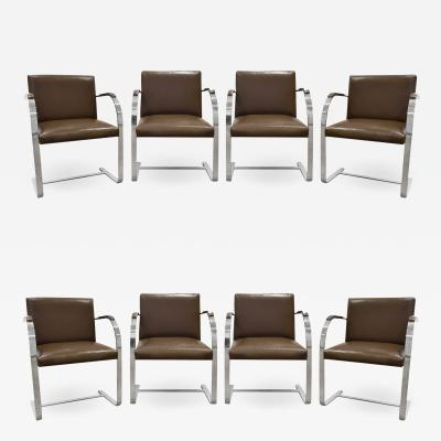 Ludwig Mies Van Der Rohe Mies van der Rohe Set Of 8 BRNO Dining Chairs In Leather 1990s