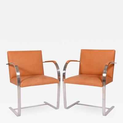 Ludwig Mies Van Der Rohe Pair Brno Chairs Mies Van Der Rohe for Knoll Int
