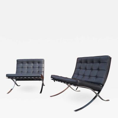 Ludwig Mies Van Der Rohe Pair of Barcelona Chairs by Mies van der Rohe for Knoll