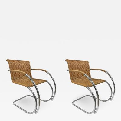 Ludwig Mies Van Der Rohe Pair of Ludwig Mies van der Rohe MR20 Chairs