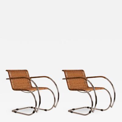 Ludwig Mies Van Der Rohe Pair of Mid Century Mies Van der Rohe MR20 Chairs