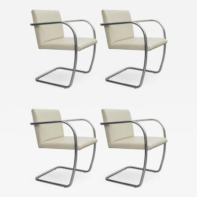 Ludwig Mies Van Der Rohe Set of 4 Mies Van Der Roh BRNO Chairs for Knoll