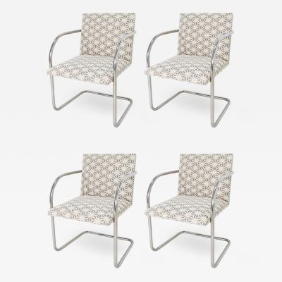 Ludwig Mies Van Der Rohe Set of Four Mies Van Der Rohe Brno Chairs by Knoll