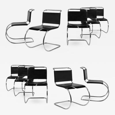 Ludwig Mies Van Der Rohe Set of Ten Mies Van Der Rohe for Knoll MR Dining Chairs