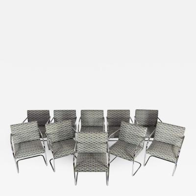 Ludwig Mies Van Der Rohe Set of Ten Tubular Brno Chairs by Knoll