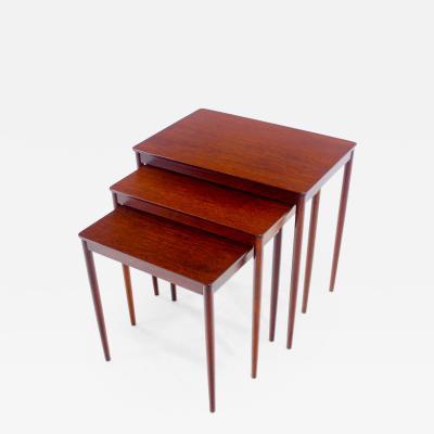 Ludwig Pontoppidan Danish Modern Nesting Tables Designed by Ludwig Pontoppidan