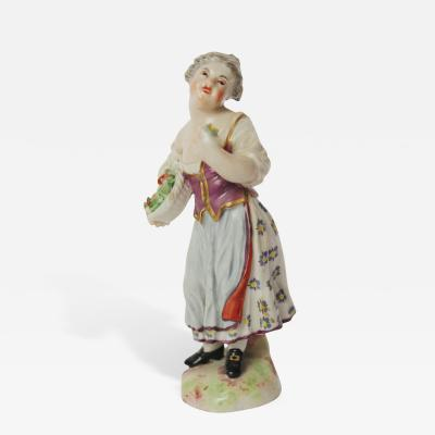 Ludwigsburg Porcelain Manufactory A Ludwigsburg Figure of a Gardener or Flower Seller