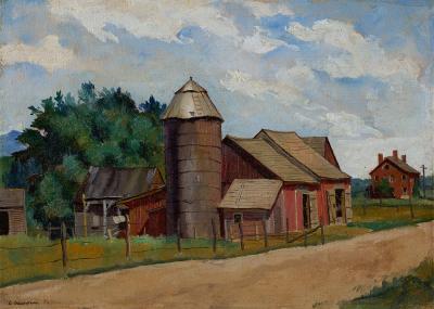 Luigi Lucioni Old Barns 1935