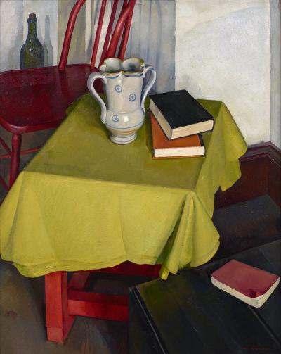 Luigi Lucioni The Yellow Table Cloth