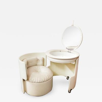 Luigi Massoni Luigi Massoni for Poltrona Frau Dilly Dally Leather Dressing Table