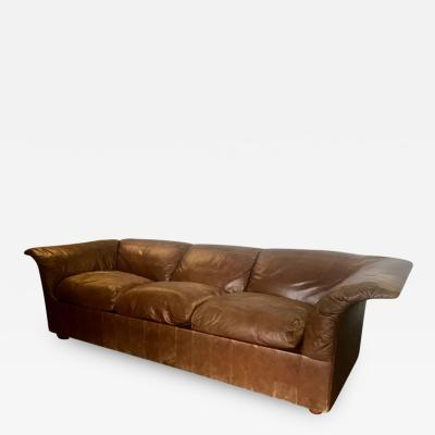 Luigi Massoni Sofa Poltrona Frau in Leather by Luigi Massoni