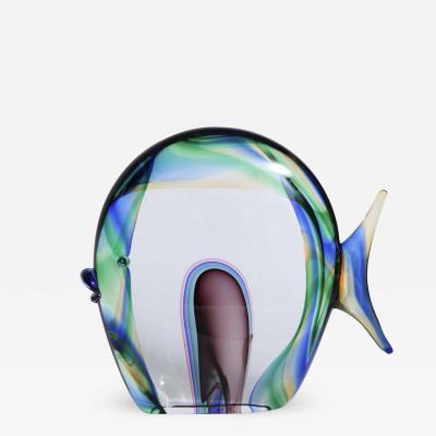 Luigi Mellara Murano Glass Fish Signed Luigi Mellara