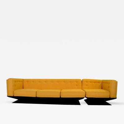 Luigi Pellegrin Italian Newly Upholstered Mid Century Modern MIM Roma Sectional Sofa