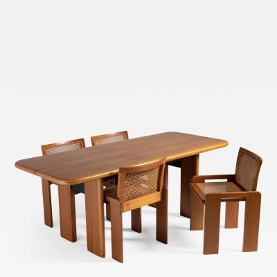 Luigi Saccardo Dining Table with Chairs by Luigi Saccardo for Gasparello