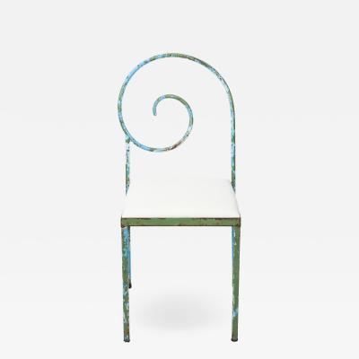 Luigi Serafini Style Scroll Back Suspiral Chairs for Garden