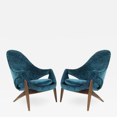 Luigi Tiengo Exceptional Lounge Chairs by Luigi Tiengo for Cimon Montr al 1963