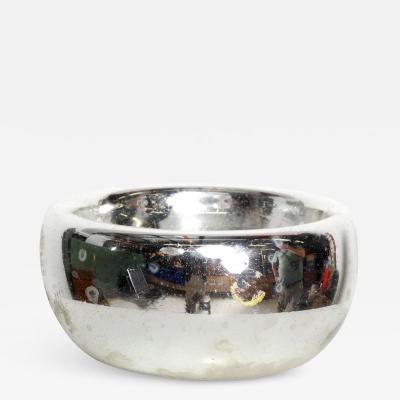 Luis Barragan Mid Century Modern Decorative Mercury Silver Bowl Dish Tray Catch All