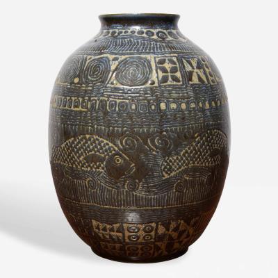 Luis Manuel Morales Studio Made Ceramic Vase by Luis Manuel Morales