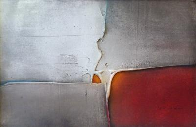 Luis Moyano Abstract Oil on Canvas by Louis Moyano Chile 1929 Paris 1965