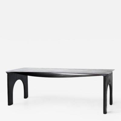 Lukas Cober Solid Oak Sculptural Dining Table by Lukas Cober