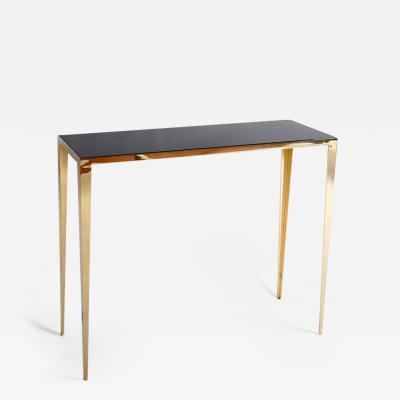 Lukas Friedrich Brass Refined Console Signed by Lukas Friedrich