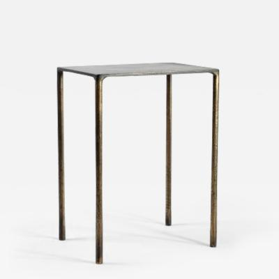 Lukas Friedrich Brass Side Table Signed by Lukas Friedrich