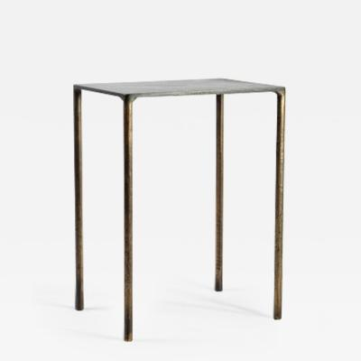 Lukas Friedrich Brass Side Table Signed by Lukasz Friedrich