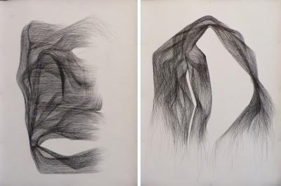 Lukas Machnik India Ink Drawings on Paper by Artist Lukas Machnik