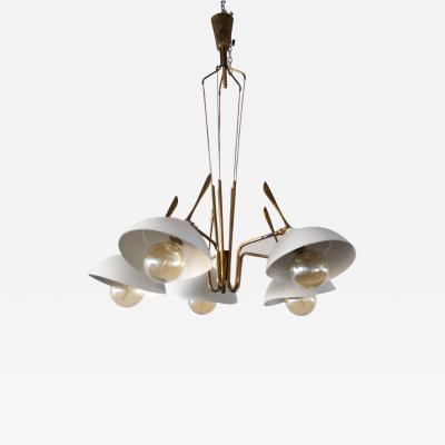 Lumen Milano Brass and Painted Aluminum Ceiling Lamp by Lumen