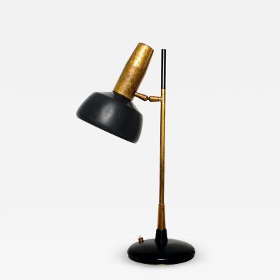 Lumi Milano Patinated Brass Desk Lamp by Oscar Torlasco 1940s Italy