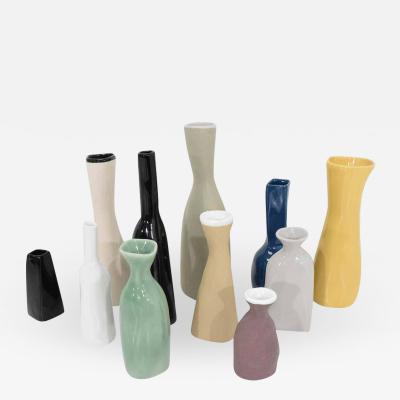 Luna Garcia Set of 11 Ceramic Vases by Luna Garcia