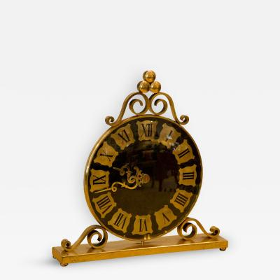 Luxor Gilded Bronze Mantel Clock by Luxor