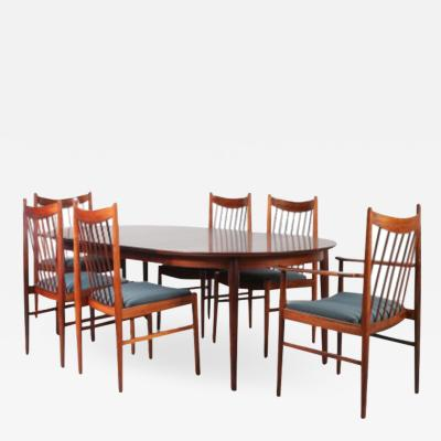 Luxurious Dining set by Arne Vodder for Sibast Denmark 1960