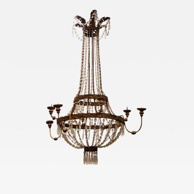 Luxury Mid 18th Century Vintage Tuscan Chandelier