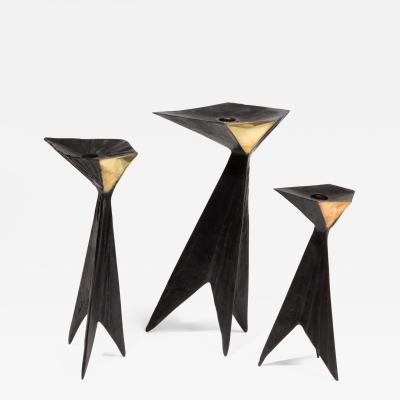 Lynn Chadwick Bronze Candlesticks