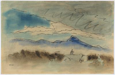 Lyonel Charles Adrian Feininger Landscape Near Lincoln Massachusetts