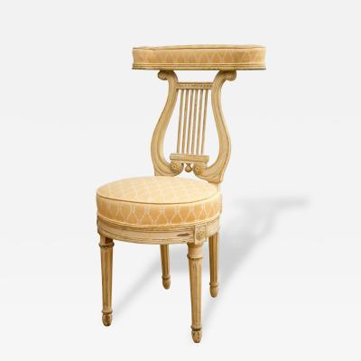 Lyre Back Voyeuse Chair in the Manner of Georges Jacob