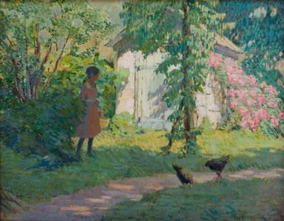 M Mary Elizabeth Price Picking Flowers