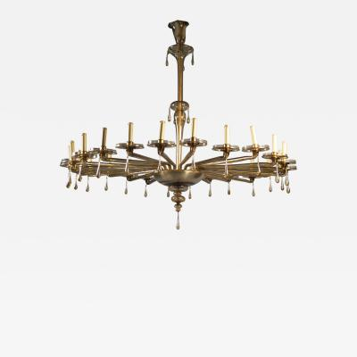 M V M Cappellin Co Monumental Chandelier by MVM Cappellin Co Italy circa 1925