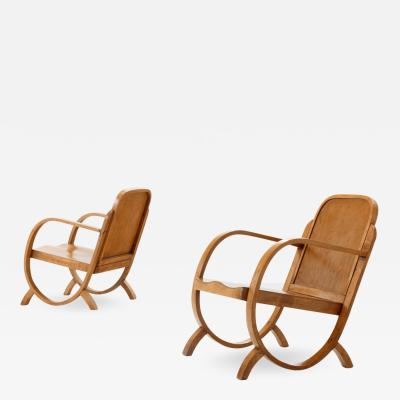 M veis Gerdau Pair of Gerdau Armchairs in Caviuna Wood Brazil 1930s