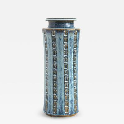 MARIA PHILIPPI MARIA PHILIPPI FOR S HOLM TALL VASE WITH IMPRESSED PATTERNS