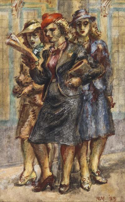 Reginald Marsh Three Women 1938