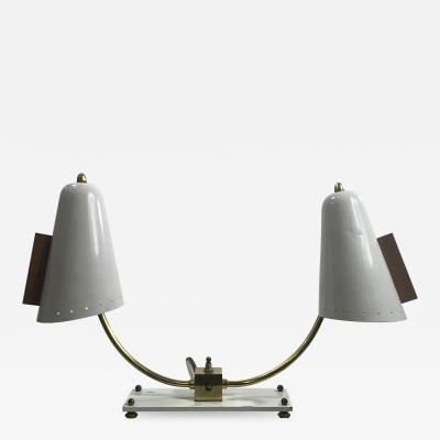 MID CENTURY MODERNIST DOUBLE SHADE DESK LAMP