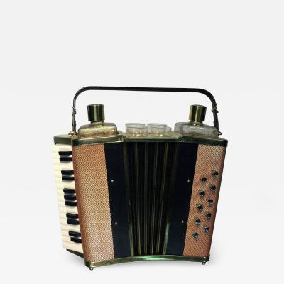 MID CENTURY MUSICAL ACCORDIAN BAR SET